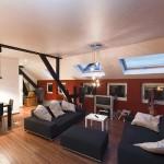 marx Holzhandel | Spanndecken in modernem Wohnzimmer | in Neuried bei Offenburg