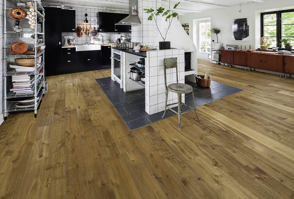 Kährs Parkett Landhausdiele 1-Stab Eiche Sevede hangehobelt Roverstone – marx Holzhandel Neuried bei Offenburg