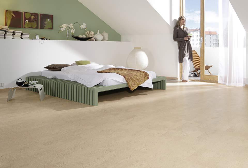 marx Holzhandel | Plancher de liège dans la chambre principale | à Neuried près de Strasbourg