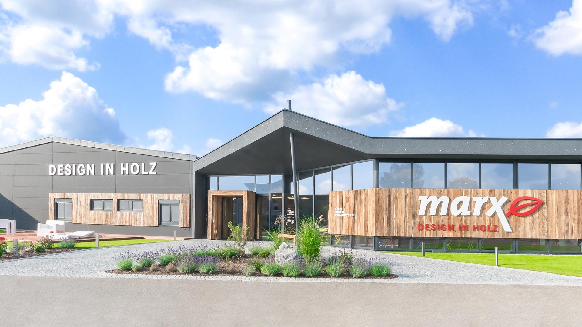 marx Holzhandel | Eingang Ausstellung | in Neuried bei Offenburg