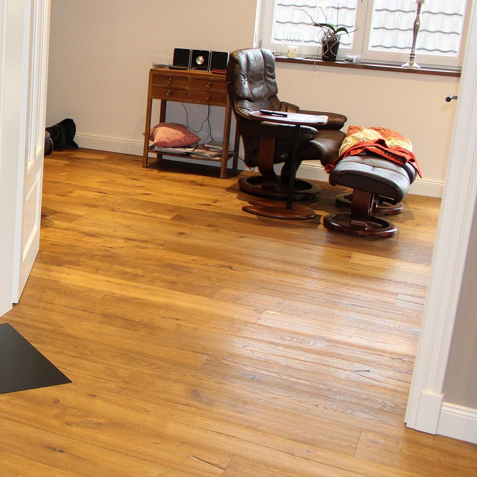 Landhausdiele Wohnzimmer | marx Holzhandel | Neuried bei Kehl