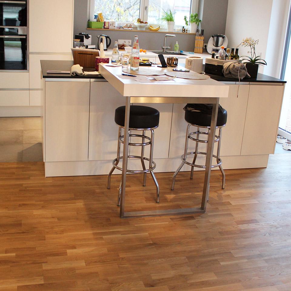 marx Holzhandel | Referenzen | Parkett in der Küche | Neuried bei Offenburg