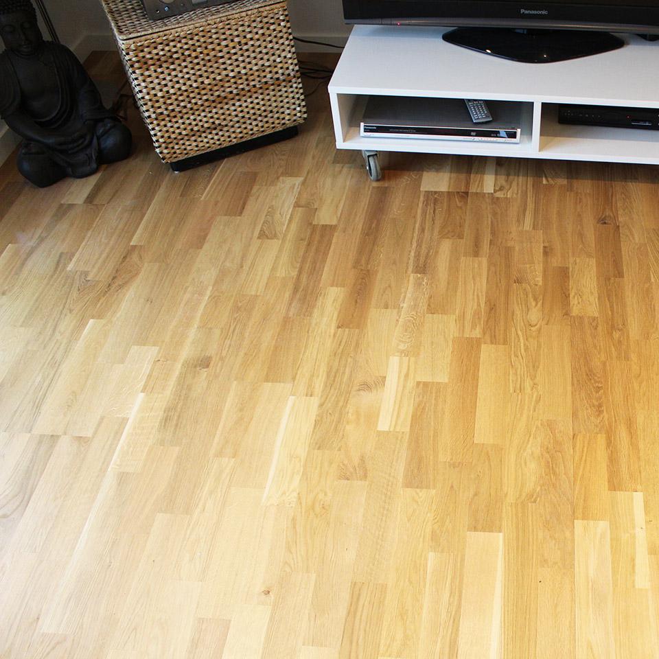 marx Holzhandel | Referenzen | Eiche-Parkett im Wohnzimmer | Neuried bei Offenburg