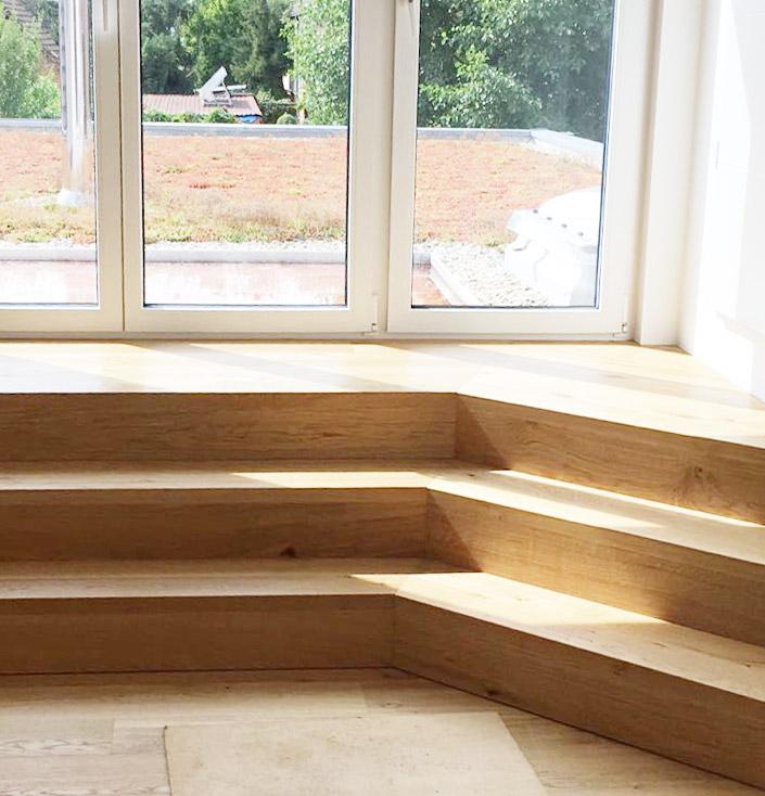 Escalier boisé