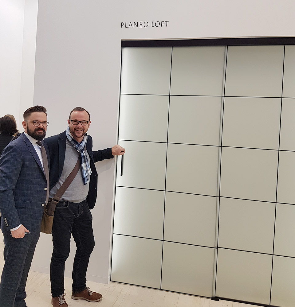 Messe Bau 2019 | Boden Schiebetür Planeo Loft | marx Holzhandel in Neuried bei Straßburg