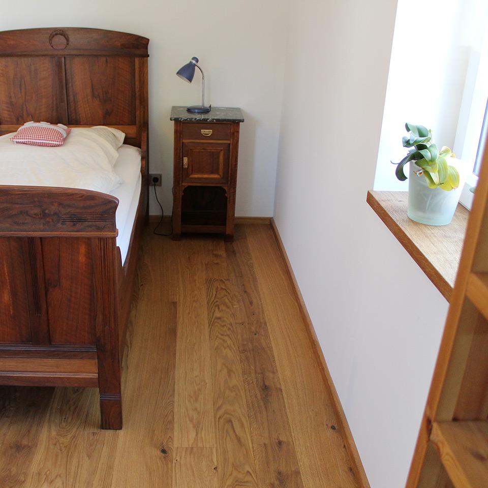 Parkett-Boden im Schlafzimmer | marx Holzhandel bei Appenweier