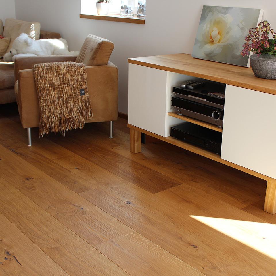 Parkett-Boden im Wohnzimmer | marx Holzhandel bei Appenweier