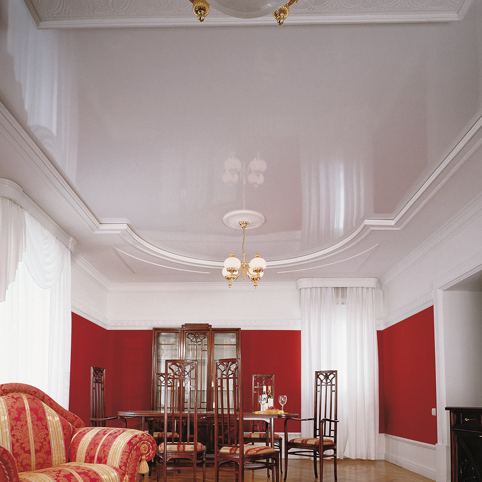 Weiße Spanndecke im Exzento Hotel | marx Holzhandel