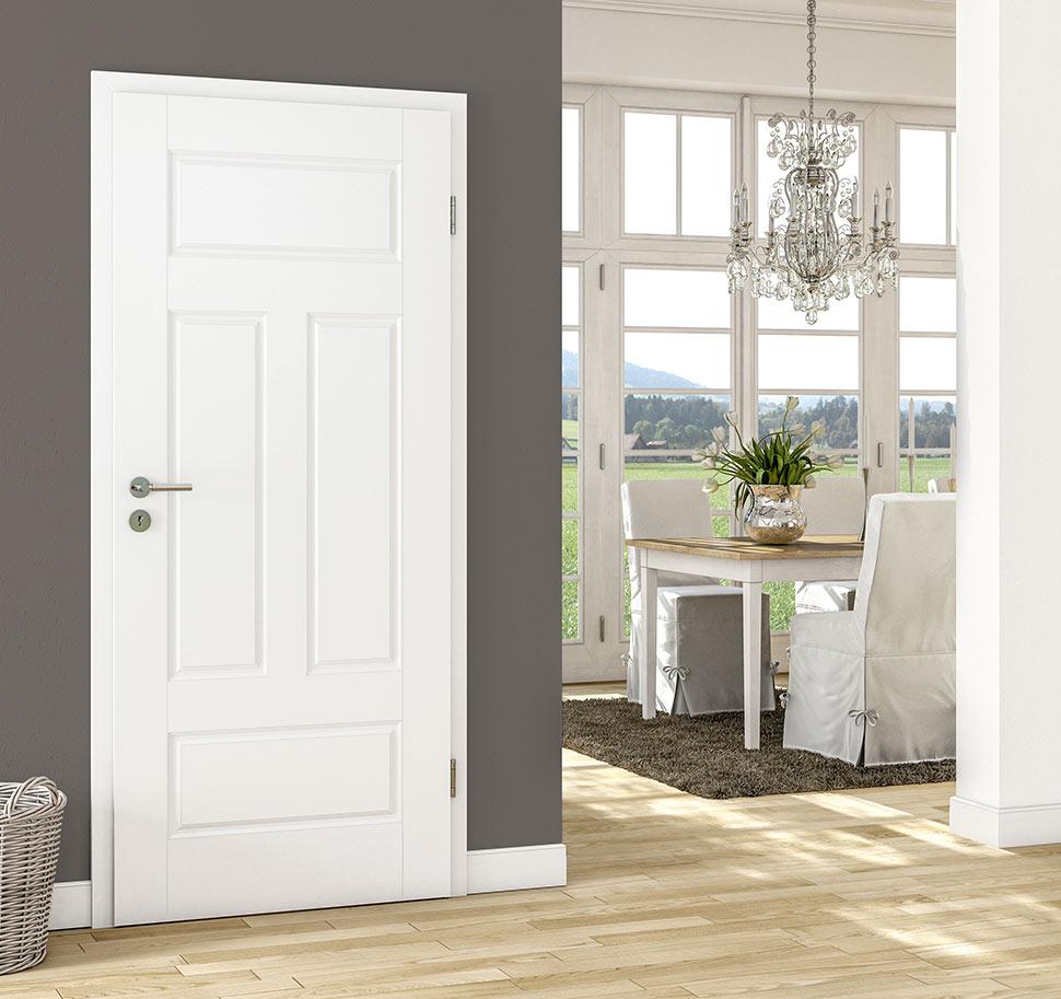 Huga Classic porte laquée blanche | vivre avec le bois | portes intérieures | marx Le bois. Le design.