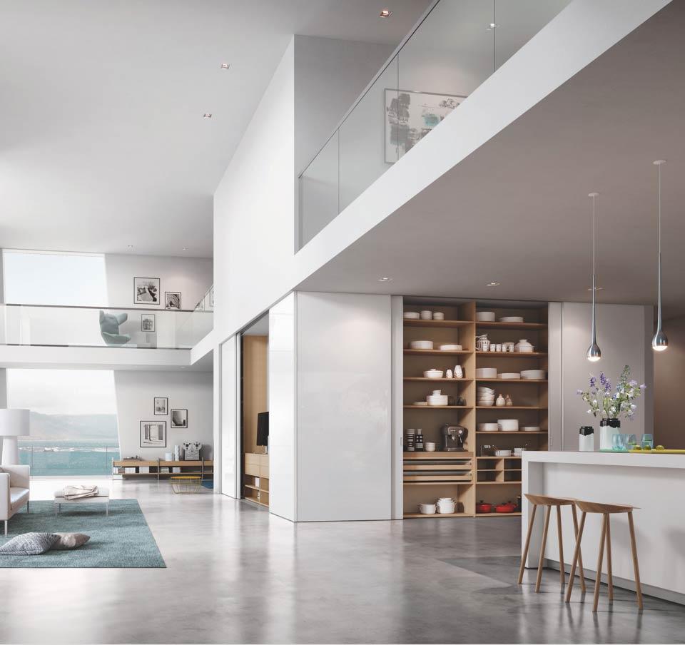 Système d'armoires en bois Raumplus | marx Le bois. Le design.