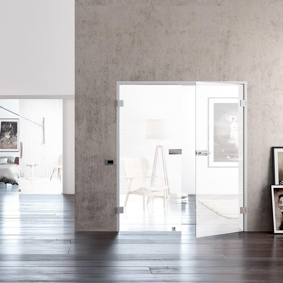 Lichtdurchlässige Glastüren | marx Holzhandel bei Offenburg