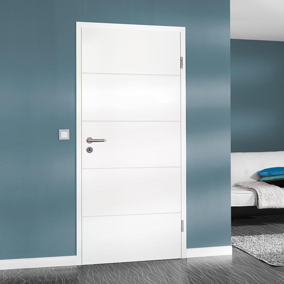 Verbindende Innentüren in weiß bei marx Holzhandel bei Offenburg