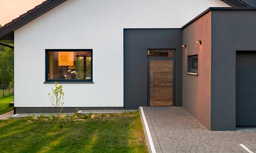 Haustür mit Oberlicht und Seitenteilen | marx Holzhandel in Neuried bei Offenburg