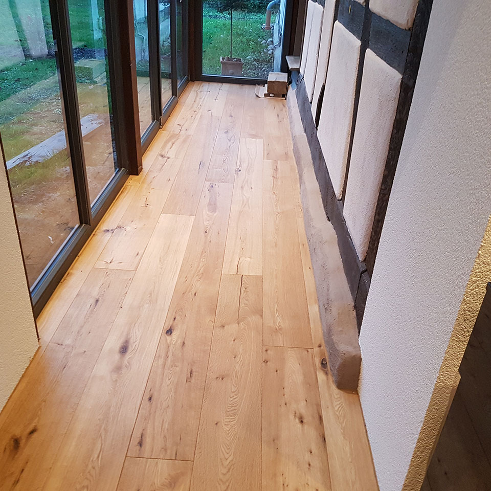 Manufaktur-Parkett im Flur | marx Holzhandel in Neuried