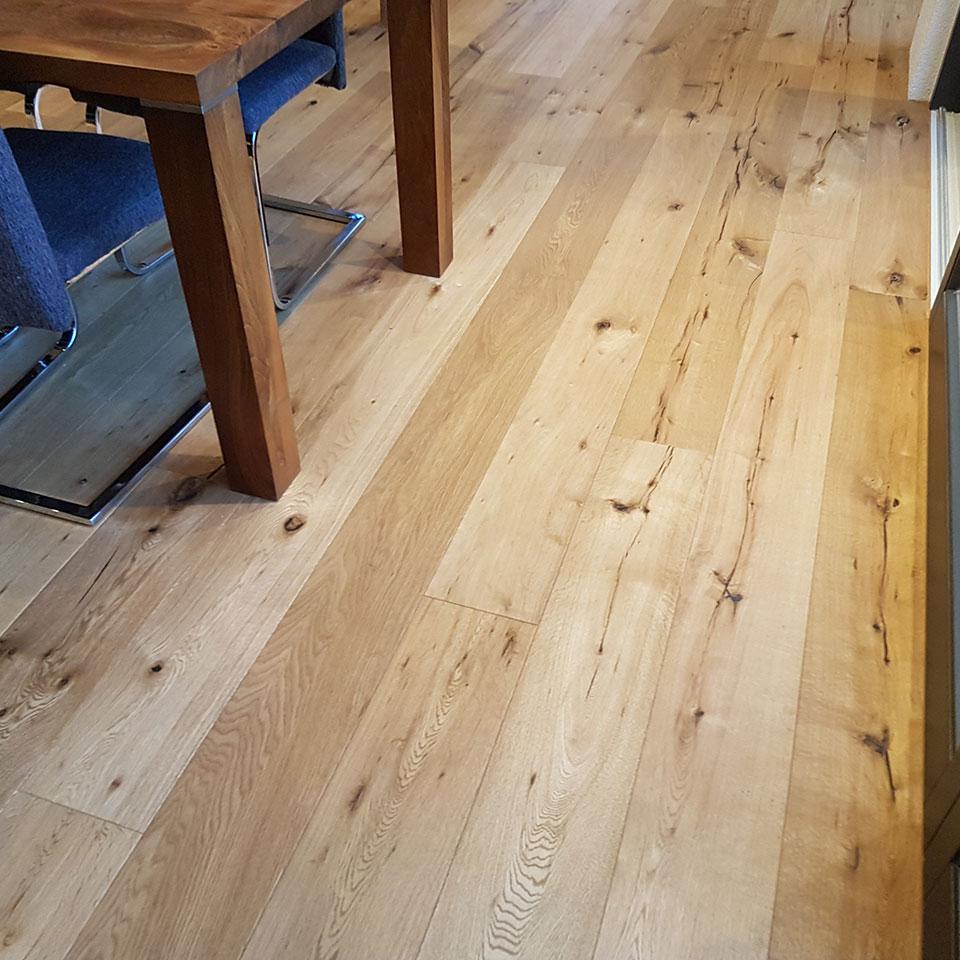 Manufaktur-Parkettdielen in der Küche | marx Holzhandel in Neuried