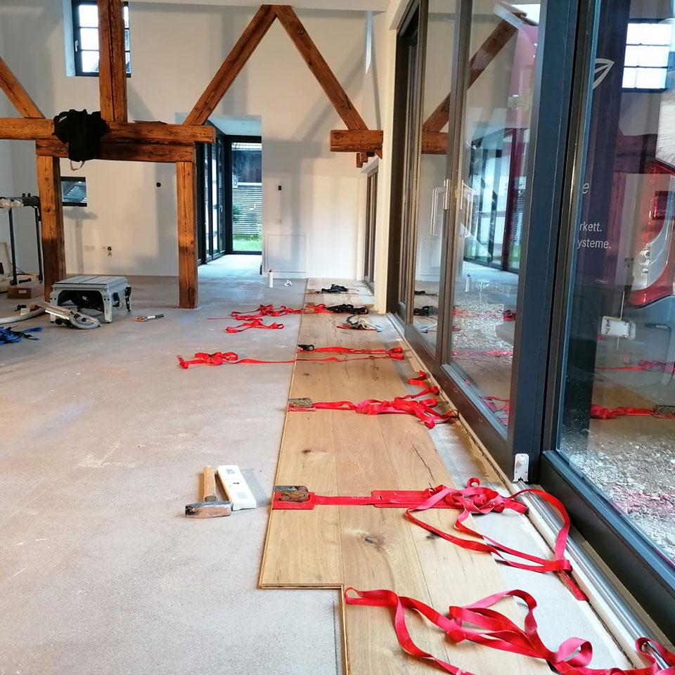 Vor der Altbausanierung mit Manufaktur-Parkett | marx Holzhandel in Neuried