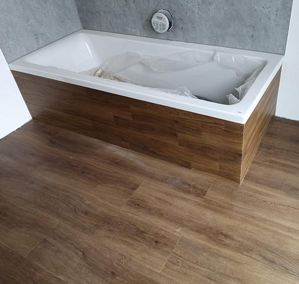Habillage de baignoire en vinyle