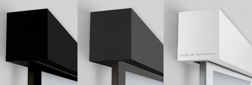 La collection de portes de loft linesPlus est disponible en trois couleurs neutres : noir, gris, blanc. marx Holzhandel