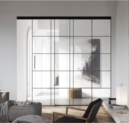 porte coulissante vitrée planeo air loft marx