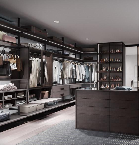 Stilvoller begehbarer Kleiderschrank | Schranksysteme | marx Design in Holz