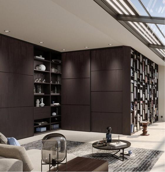 Stilvoller Einbauschrank im Wohnzimmer | Schranksysteme | marx Design in Holz
