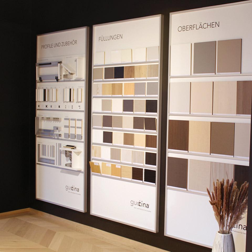 Design Exposition Systèmes d'armoires Remplissage Surfaces et accessoires marx Holzhandel