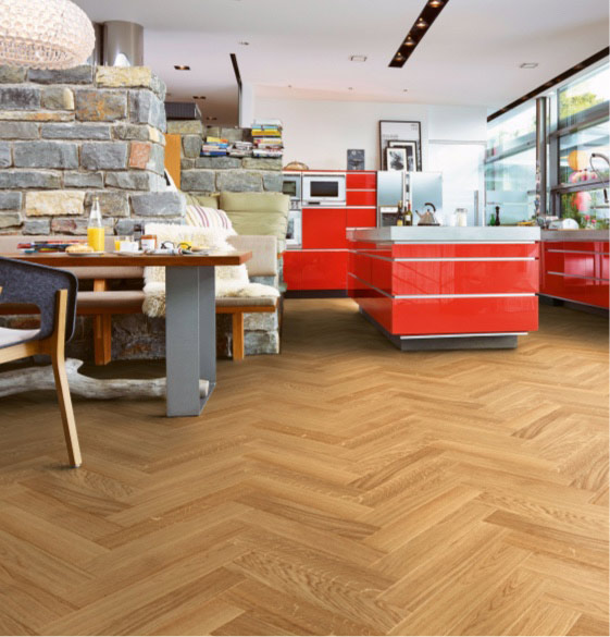 Parkett Boden in Fischgrät-Muster | marx Design in Holz